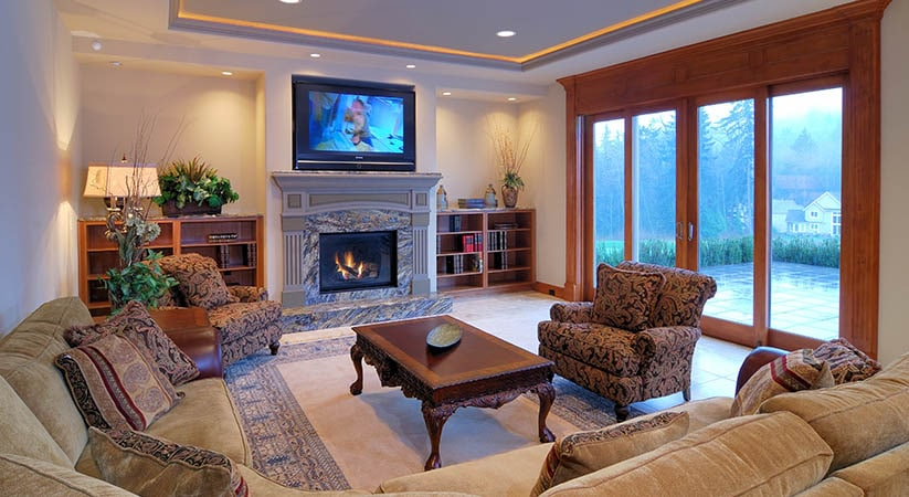 Install a gas fireplace to add glamour to your homes